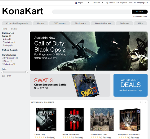 Click to view KonaKart screenshots